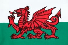 National flag of Wales. The national flag of Wales known as Y Ddraig Goch (The Red Baron) sadly not included in the Union Jack Stock Photo