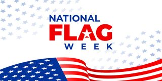 Free NATIONAL FLAG WEEK. Vector Banner, Poster, Image For Social Media. A Concept With A Flying American Flag And The Text National Stock Image - 183997231