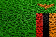 National flag of Zambia made of water drops. Background forecast concept stock photo