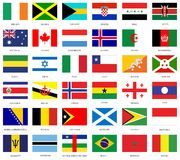 National flags Stock Image