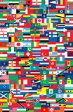 National flags. Vector illustation background Stock Images