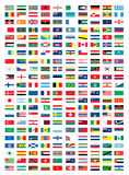 National flags. Vector illustration on white background Royalty Free Stock Image