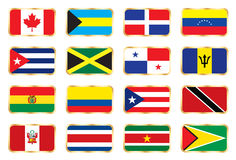 National flags - American set. Stock Image