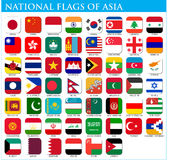 National flags of Asia Stock Photography