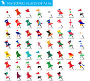 National Flags of Asia Royalty Free Stock Images