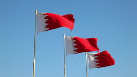 National Flags of Bahrain stock video footage