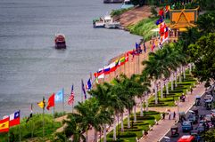 National flags cambodia penh phnom royalty free stock image