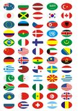 National flags collection Royalty Free Stock Images