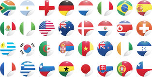 National flags of countries Royalty Free Stock Image