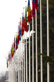 National flags of countries all over the world Royalty Free Stock Image