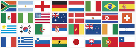 National flags of countries world cup 2010 Royalty Free Stock Image