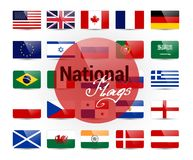 National flags Royalty Free Stock Photography
