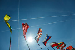 National flags of different countries Royalty Free Stock Image