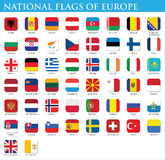 National flags of Europe Stock Images