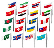 National Flags of G20 Royalty Free Stock Photo