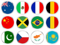 National flags icon set 2 Stock Photography