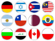 National flags icon set 4 vector illustration