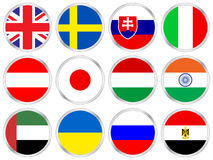 National flags icon set 5 Royalty Free Stock Image