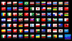 National flags icons stock illustration