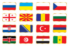 National flags - Mix set Stock Images