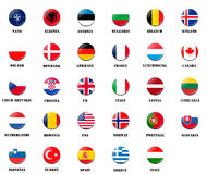 National flags from NATO members Stock Images