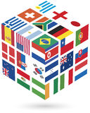 National Flags Of Countries Participating In World Stock Photography