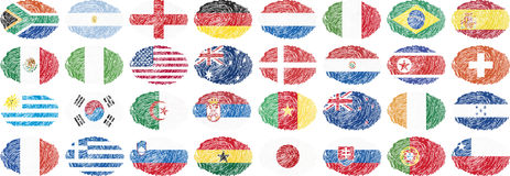 National flags in oval shape Royalty Free Stock Image