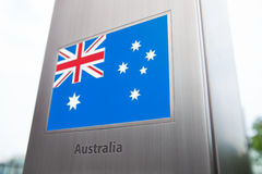 National flags on pole series - Australia Stock Image