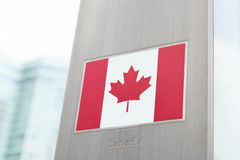 National flags on pole series - Canada Stock Photography