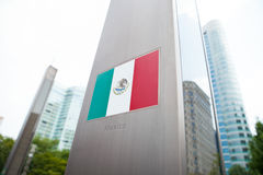 National flags on pole series - Mexico Stock Photography