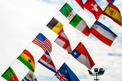 National Flags. Under the blue sky Royalty Free Stock Photo
