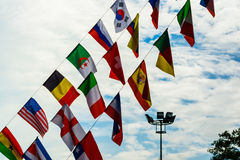 National Flags. Under the blue sky Royalty Free Stock Photography