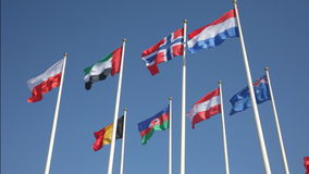 National flags of various countries Stock Photography