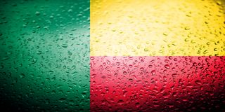 National flags with water drops desing Stock Images