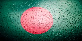 National flags with water drops desing Stock Photos