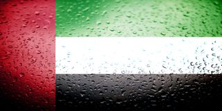 National flags with water drops desing Royalty Free Stock Photos