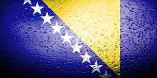 National flags with water drops desing Royalty Free Stock Image