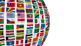 National flags of the world. Large number of national flags isolated on white Stock Photos