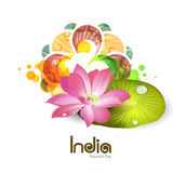 National Flower Lotus for Indian Republic Day celebration. Royalty Free Stock Image
