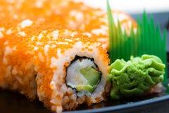 National food susi. Japanese national food susi. studio macro shoot royalty free stock photos