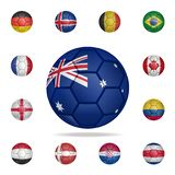 National football ball of Australia. Detailed set of national soccer balls. Premium graphic design. One of the collection icons. For websites, web design vector illustration