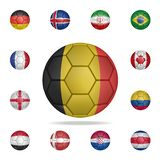 National football ball of Belgium. Detailed set of national soccer balls. Premium graphic design. One of the collection icons for. Websites, web design, mobile vector illustration