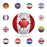 National football ball of Canada. Detailed set of national soccer balls. Premium graphic design. One of the collection icons for. Websites, web design, mobile royalty free illustration