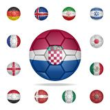 National football ball of Croatia. Detailed set of national soccer balls. Premium graphic design. One of the collection icons for. Websites, web design, mobile vector illustration