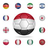 National football ball of Egypt. Detailed set of national soccer balls. Premium graphic design. One of the collection icons for. Websites, web design, mobile stock illustration