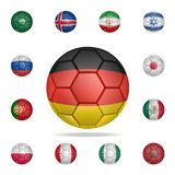 National football ball of Germany. Detailed set of national soccer balls. Premium graphic design. One of the collection icons for. Websites, web design, mobile vector illustration
