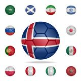 National football ball of Iceland. Detailed set of national soccer balls. Premium graphic design. One of the collection icons for. Websites, web design, mobile stock illustration