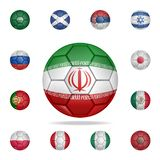 National football ball of Iran. Detailed set of national soccer balls. Premium graphic design. One of the collection icons for. Websites, web design, mobile app royalty free illustration
