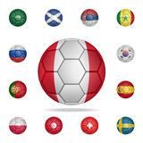 National football ball of Panama. Detailed set of national soccer balls. Premium graphic design. One of the collection icons for. Websites, web design, mobile stock illustration