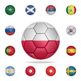 National football ball of Poland. Detailed set of national soccer balls. Premium graphic design. One of the collection icons for. Websites, web design, mobile stock illustration
